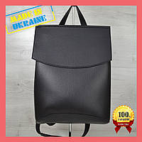 Женская Сумка рюкзак, сумка-рюкзак черного цвета, городской женский рюкзак