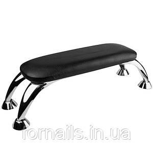Подлокотник на металлический ножках, черный