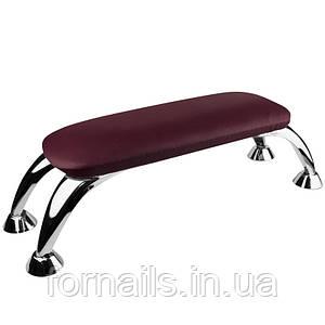 Подлокотник на металлический ножках, бордовый