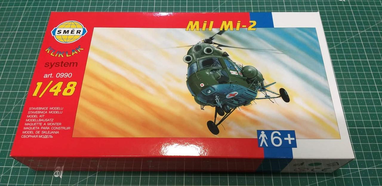 Ми-2. Сборная пластиковая модель вертолета в масштабе 1/48. SMER 0990