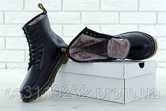 Мужские ботинки зимние Dr Martens 1460 (мех) (черный)