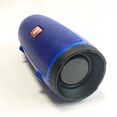 Портативная колонка bluetooth блютуз акустика для телефона мини с флешкой синяя mini1+