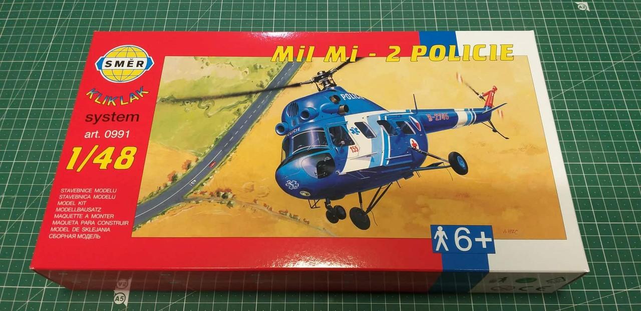 Ми-2 Police. Сборная пластиковая модель вертолета в масштабе 1/48 SMER 0991