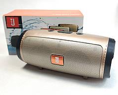 Портативная колонка bluetooth блютуз акустика для телефона мини с флешкой золото mini1+