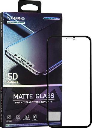 Защитное стекло Gelius Pro 5D Matte Glass для iPhone XS Max черный, фото 2