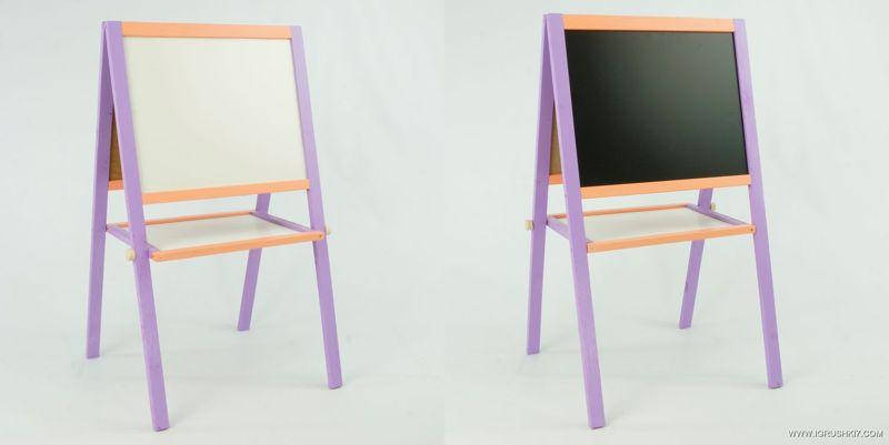 """Гр Мольберт 50*40 см. фиолетово-оранжевый (1) """"ИГРУША"""", фото 2"""