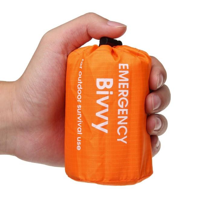 Сверхлегкий спальный мешок для экстренной помощи (выживания) Спасательное одеяло. Бивачный мешок.