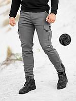 Штаны карго зимние мужские BEZET Warrior grey '20