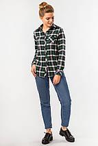 Теплая клетчатая рубашка зеленого цвета, фото 2