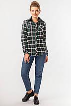 Теплая клетчатая рубашка зеленого цвета, фото 3