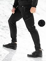 Штаны карго зимние мужские BEZET Softshell Black '20