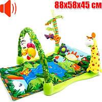 Музыкальный развивающий коврик для малышей Африка Qunxing Toys (3059)
