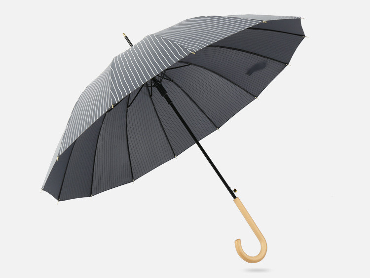 Полосатый деловой зонт много спиц AL170025