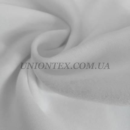 Футер трехнитка с начесом белая, фото 2