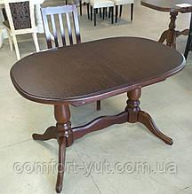Стол Даниэль орех 120(+40)*80 обеденный раскладной деревянный овальный