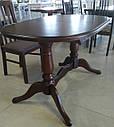 Стол Даниэль орех 120(+40)*80 обеденный раскладной деревянный овальный, фото 4