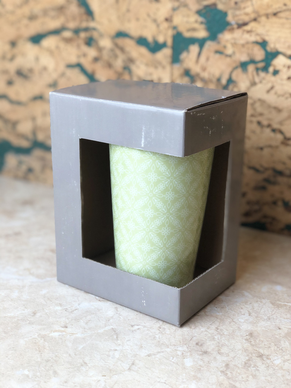 Чашка керамічна зелена