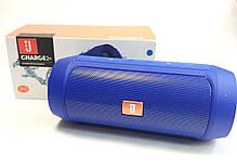 Портативная колонка bluetooth блютуз акустика для телефона мини с флешкой повербанк синяя charge 2+, фото 2
