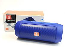 Портативная колонка bluetooth блютуз акустика для телефона мини с флешкой повербанк синяя charge 2+, фото 3