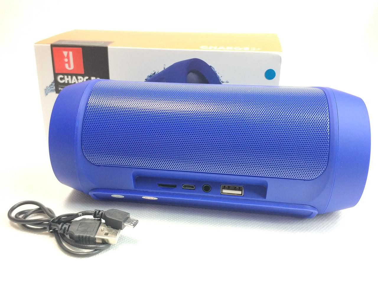 Портативная блютуз колонка акустика bluetooth jbl для телефона мини с флешкой charge 2+ вид сзади