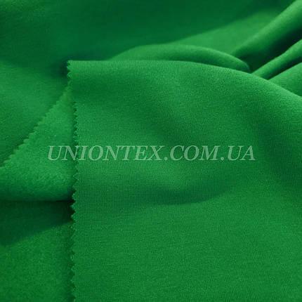 Футер трехнитка с начесом зеленая, фото 2
