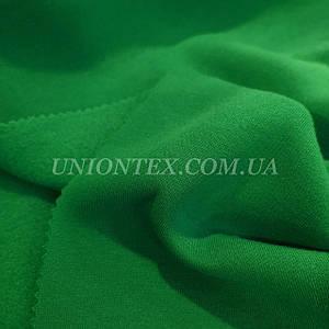 Футер трехнитка с начесом зеленая