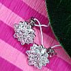 Изумительные серебряные серьги гвоздики - Брендовые серебряные пуссеты, фото 3