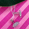 Изумительные серебряные серьги гвоздики - Брендовые серебряные пуссеты, фото 4