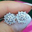 Изумительные серебряные серьги гвоздики - Брендовые серебряные пуссеты, фото 8