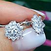 Изумительные серебряные серьги гвоздики - Брендовые серебряные пуссеты, фото 7