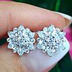 Изумительные серебряные серьги гвоздики - Брендовые серебряные пуссеты, фото 5