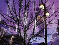 Светодиодная гирлянда Сосульки (снегопад), синяя
