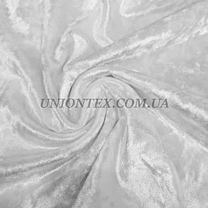 Ткань бархат стрейч мрамор белый