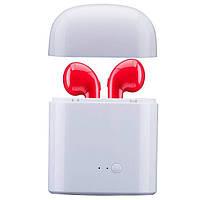 Беспроводные Bluetooth наушники Apple HBQ I7S TW Red Красные