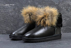 Женские зимние угги, черные 36 (23,2 см)