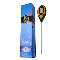 Анализатор почвы 4 в 1 KC-300B pH-метр, влагомер, термометр и люксметр