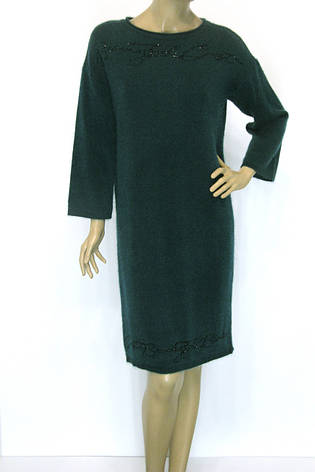 Тепле зимове плаття смарагдового кольру, фото 2