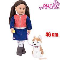 Кукла большая детская 46 см Лесли с собакой Our Generation BD31201Z