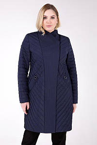 Стеганное весеннее пальто ( 50 -64 ). Женское демисезонное пальто больших размеров.