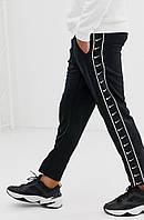 Зимние штаны Nike черные с лампасом AAA+