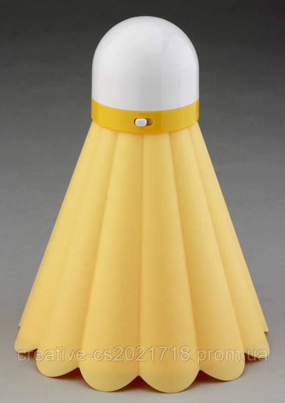 Волан желтый светильник ночник ( теннис/бадминтон )