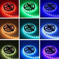 Светодиодная лента SMD 5050 60 RGB LED/мт. IP20, фото 1