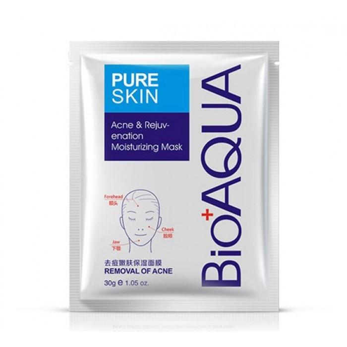 Тканевая маска для лица очищающая Анти Акне BIOAQUA Pure Skin, 1шт