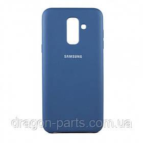 Чехол Силикон Silicone case для Samsung Galaxy A6 PLUS A605 2018 синий