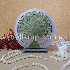 Соляная лампа круглая Дерево 3 цветная