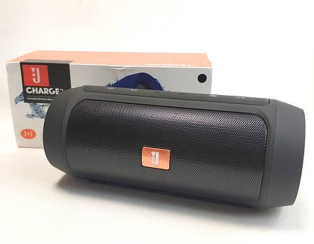 Портативная колонка bluetooth блютуз акустика для телефона мини с флешкой повербанк черная charge 2+, фото 2