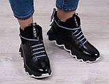 Ботинки молодежные на толстой подошве из натуральной кожи от производителя модель БС6035-3, фото 2