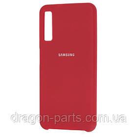 Чехол Силикон Silicone case для Samsung Galaxy A7 A750 2018 красный