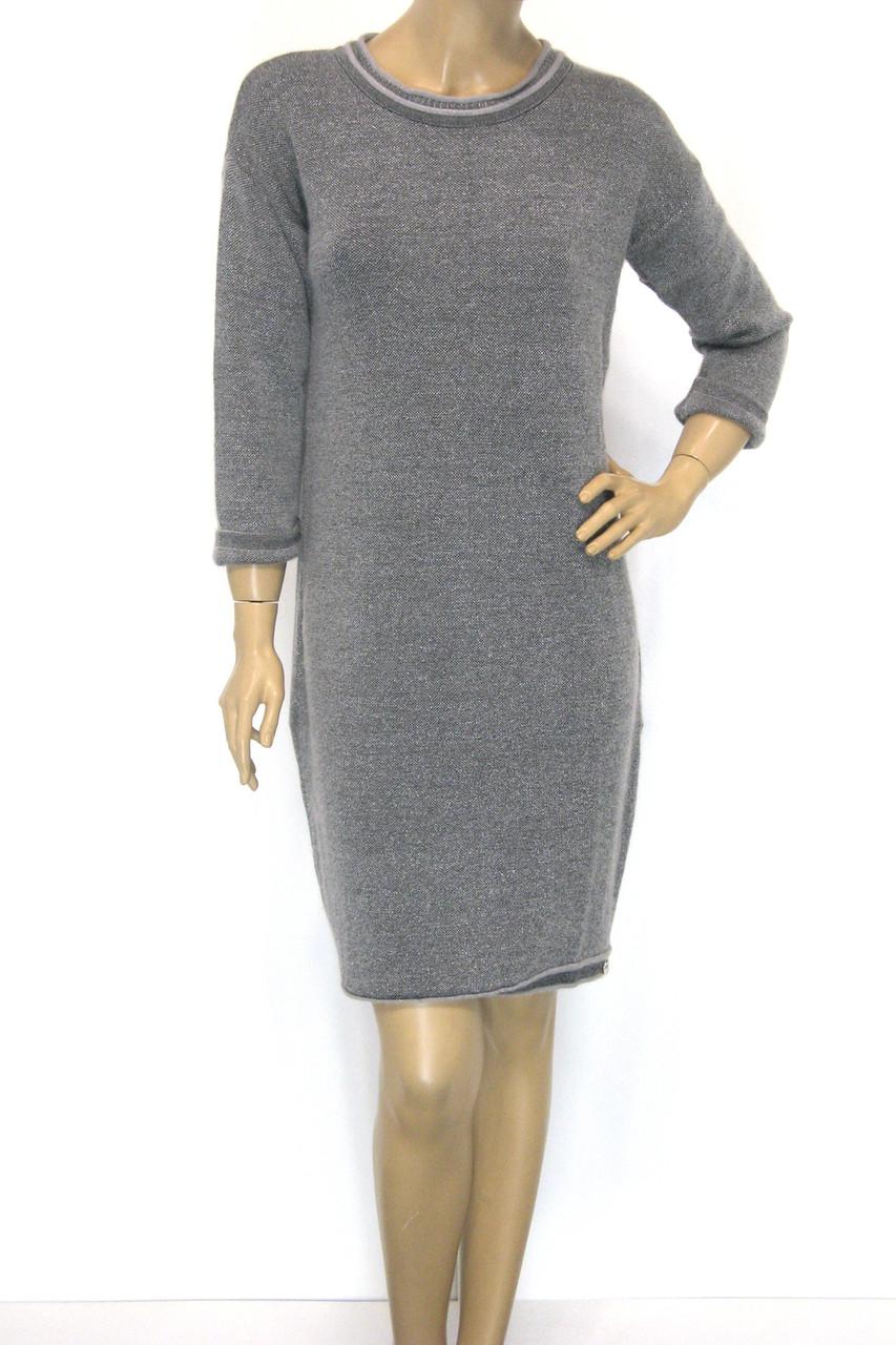 Тепле зимове плаття з люрексом преміум клас