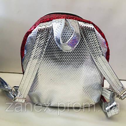 Женский красный + розовый рюкзак Zanex из эко-кожи с куклой LOL Sisters 20 х 21 см, фото 2